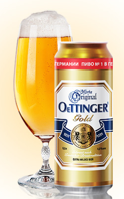 Баночка пива OeTTINGER Gold